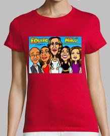 Equipo Malú de La Voz caricaturas