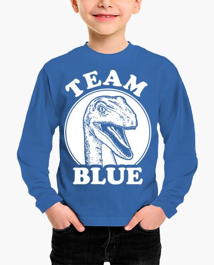 Ropa infantil equipo velociraptor azul