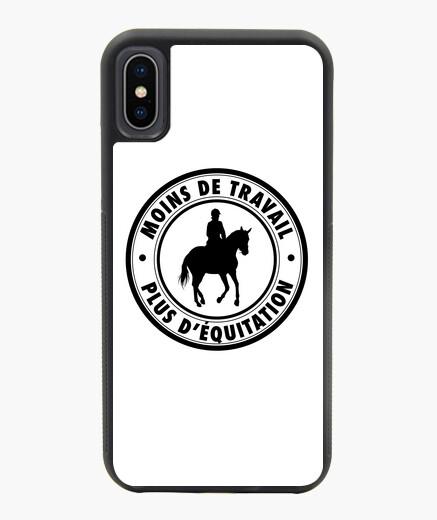 Coque iPhone X / XS Équitation - noir