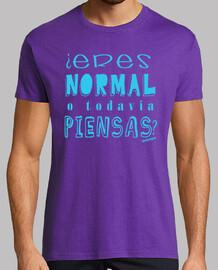 ¿Eres normal o todavía piensas? azul Malavirgen