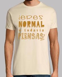 ¿Eres normal o todavía piensas? marrón Malavirgen