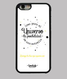 Eres para el universo - Funda iPhone 6, negra