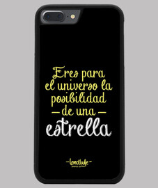 Eres para el universo - Funda iPhone 7/8 PLUS, negra