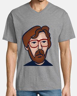Eric Clapton Hombre, manga corta cuello pico cerrado, gris vigoré