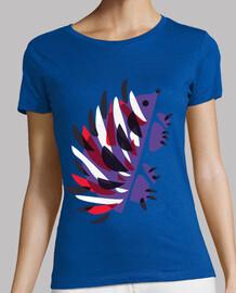 erizo lindo colorido geométrico