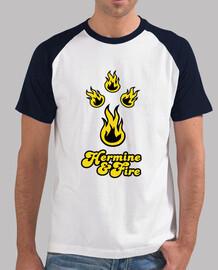 ermine & fire - baseball shirt man