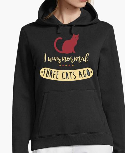 Felpa ero normale three cats fa