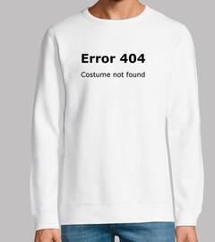 erreur 404 costume pas trouvé noir