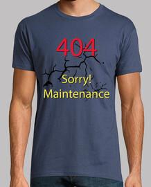 Erreur 404 désolé! la maintenance