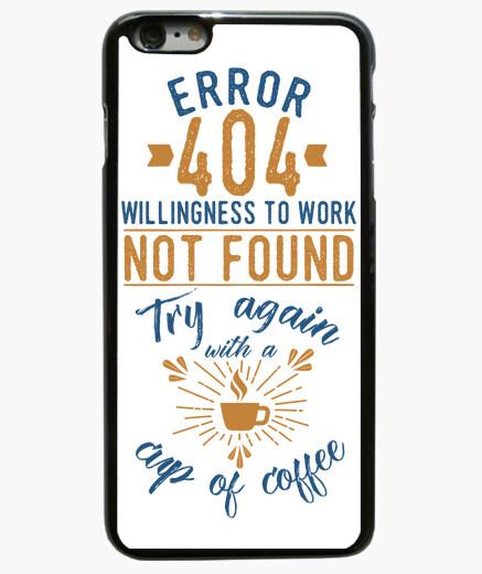 Funda iPhone 6 Plus / 6S Plus Error 404 coffee