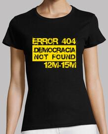 Error 404 Democracia not found (amarillo)