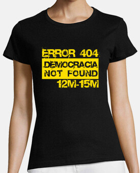 Error 404 Democracia not found (amarillo)