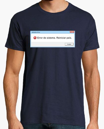 Camiseta error de sistema