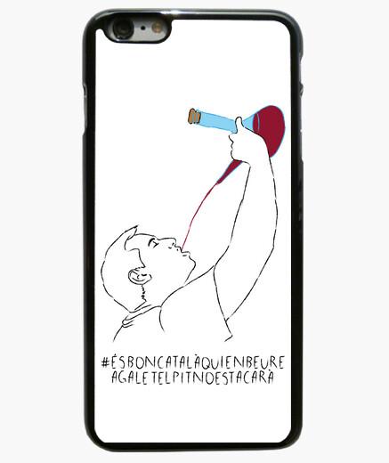 És bon català qui en beure a galet el pit no es tacarà - Funda iPhone 6 Plus / 6S Plus 6 Plus, negra