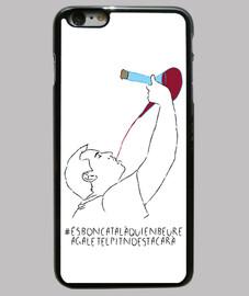 És bon català qui en beure a galet el pit no es tacarà - Funda iPhone 6 Plus, negra