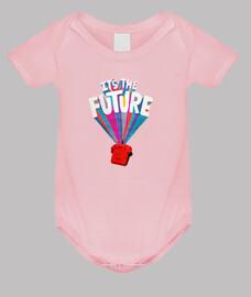 es el futuro // body para bebé / rosa