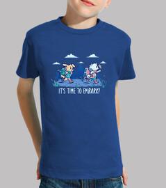 es hora de embarcarse - camisa para niños