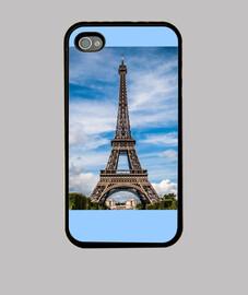 Esbelta torre parisina de Eiffel