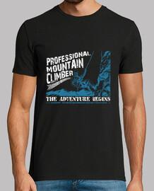 Escalador profesional de montañas camiseta para aventureros