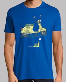escargot et chemise de scooter