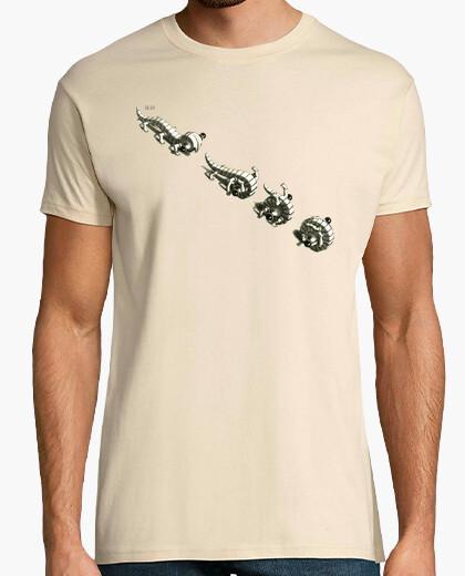 Camiseta Escher. Animalillos rodantes