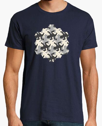 Camiseta Escher. Mosáico de reptiles.