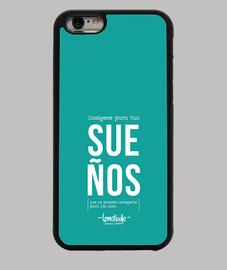 Escógeme para tus sueños - Funda iPhone 6, negra