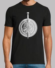 Escudo con Lobo y Espada