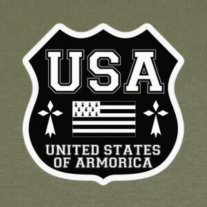 T-shirt escudo de armas de usa