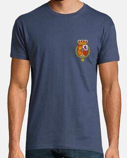 Escudo Felipe VI. Hombre, manga corta, denim, calidad extra