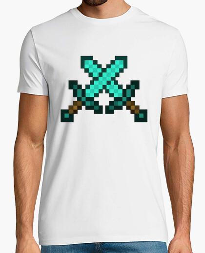 Camiseta Espadas de diamante - Minecraft