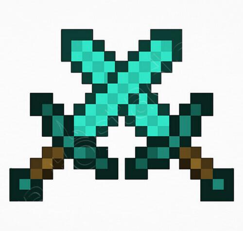 Camiseta Espadas De Diamante Minecraft Nº 691940 Camisetas