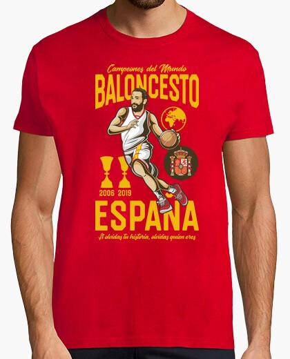 Camiseta España Campeones del Mundo Baloncesto