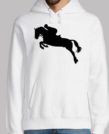 espectáculo de caballos saltando