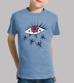 espeluznante ojo rojo con hormigas rast