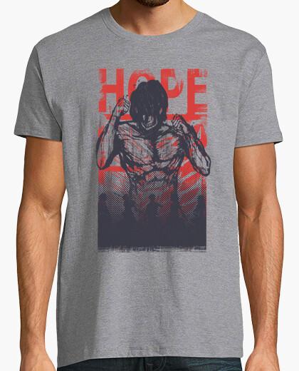 Camiseta esperanza y destructor - ataque a titán