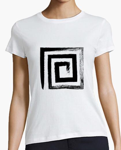 Camiseta Espiral Cuadrada - Color Negro