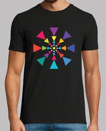 espiral de baile triángulo multicolor