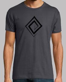 Espiral en Rombo - Color Negro