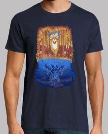 espíritu del bosque del otoño camisa para hombre