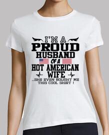esposa americana caliente del marido orgulloso