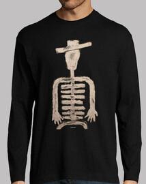 Esqueleto-hombre manga larga