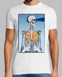 Esqueleto - calavera - corazón - fuego