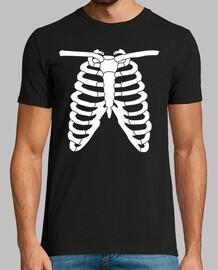 esqueleto de halloween de rayos x