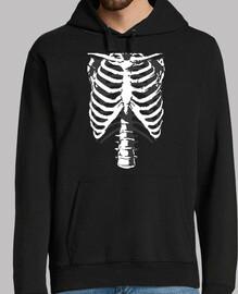 Esqueleto huesos costillas