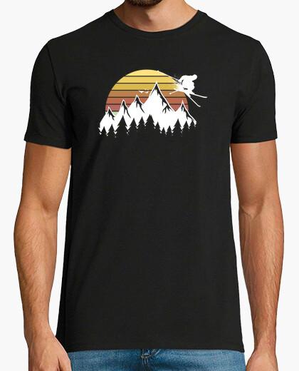 Camiseta esquís de esquiador