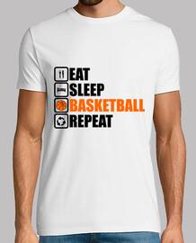 essen Schlaf Basketball wiederholen
