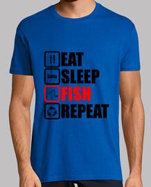 essen Schlaf Fisch wiederholen