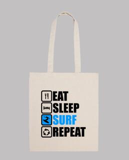 essen schlaf surfen wiederholen