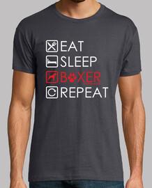 essen, schlafen, boxer
